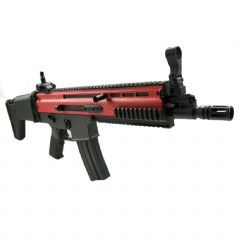 Classic Army MK16 Airsoft AEG With Red Carbon Effect Finish